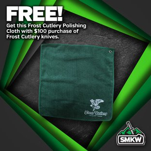 FREE Frost Cutlery Polishing Cloth (PDFRCLOTH) with $100 Frost Cutlery purchase. Limit 1 per order. While supplies Last. Ends 12/31/20.