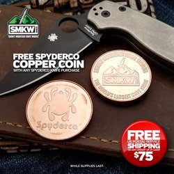 Free Spyderco Collectors Coin (SPYCOIN) with Spyderco Knife Purchase! Web-only. 1 for 1. For a limited time while supplies last. Ends 12/31/21