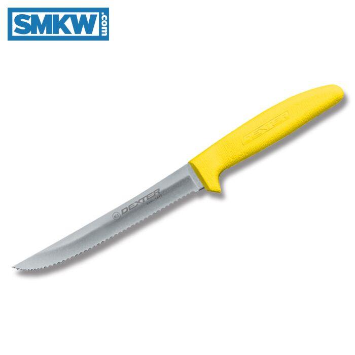 Dexter Sani Safe Scalloped Yellow Utility Knife Smkw