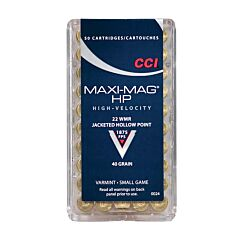 CCI Maxi-Mag HP 22 Winchester Magnum Rimfire 40 Grain Jacketed Hollow Point 50 Rounds