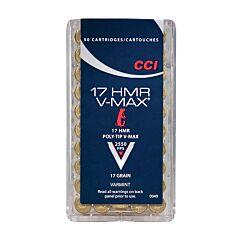 CCI V-Max 17 Hornady Magnum Rimfire 17 Grain V-Max 50 Rounds
