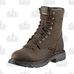 """Ariat WorkHog 8"""" Waterproof Brown Work Boots"""