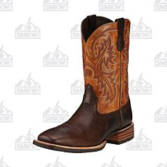 Ariat Quickdraw Thunder Brown Western Boots