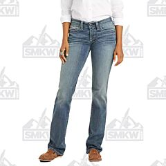 Ariat R.E.A.L Mid Rise Icon Stackable Straight Leg Jean Small