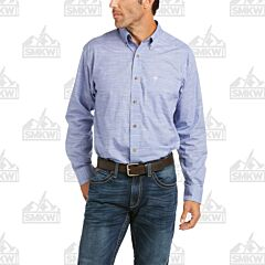 Ariat Solid Slub Classic Long Sleeve Button Down