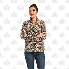 Ariat Women's Leopard Printed 1/4 Zip Sweatshirt