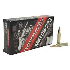Norma USA Match 223 Remington 77 Grain Sierra MatchKing Hollow Point 20 Rounds
