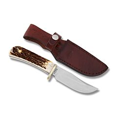 Uncle Henry Fixed Blade Hunting Knife D2 Tool Steel Blade Stag Handle