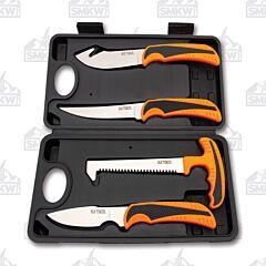 Old Timer 4 Piece Orange Hunting Knife Set