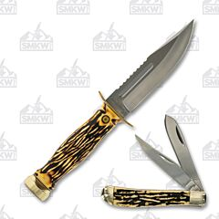Schrade Uncle Henry 2pc Bowie/Trapper Combo
