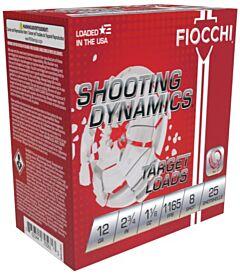 "Fiocchi Shooting Dynamics 12 Gauge 2.75"" 1.12oz #8 Shot 25 Shells"