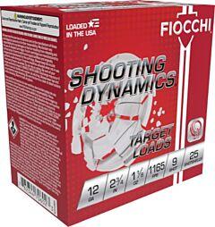 "Fiocchi Shooting Dynamics 12 Gauge 2.75"" 1.12oz #9 Shot 25 Shells"
