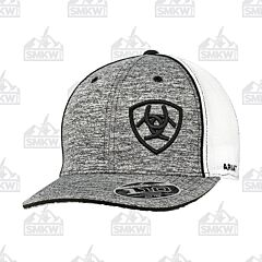 Ariat Men's Heather Gray with Black Logo Hat