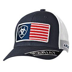 Ariat Men's USA Flag Patch Hat