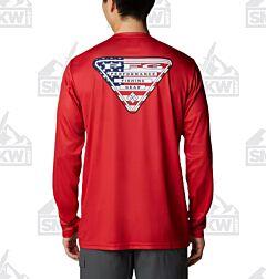 Columbia Men's PFG Terminal Tackle Country Triangle Long Sleeve Shirt
