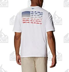 Columbia Men's PFG Fish Flag Graphic Short Sleeve Shirt