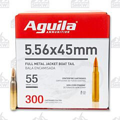 Aguila 5.56 NATO 55 Grain Full Metal Jacket 300 Rounds