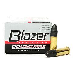 CCI Blazer 22 LR High Velocity 40 Grain Lead Round Nose 50 Rounds