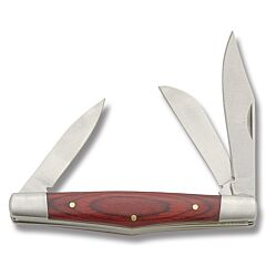Large Stockman with Red Wood Handle