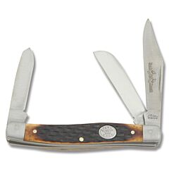 Rite Edge Stockman with Brown Jigged Bone Handle