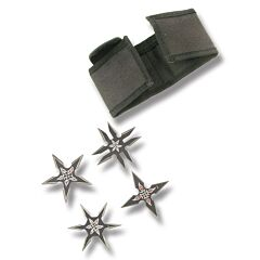 Black 4 Piece Throwing Star Set