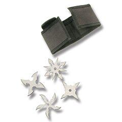 Silver 4pc Throwing Star Set