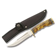 Upswept Hunter with Imitation Stag Handle