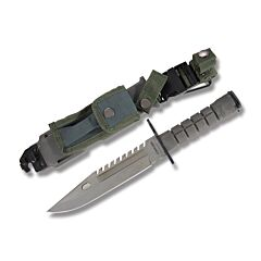 "M9 Bayonet with Black Synthetic Handles and Stainless Steel 7.75"" Clip Point Plain Edge Blades Model 210997"