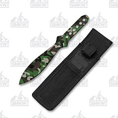 Camo Throwing Knife Set