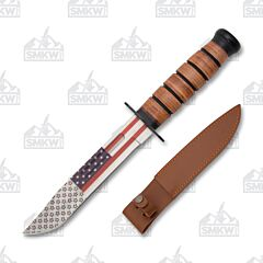 WWII Style Fighting Knife American Flag Blade