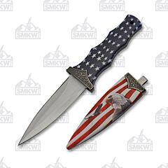 Eagle & Flag Boot Knife