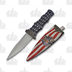 Wolf & Flag Boot Knife