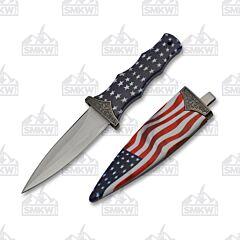 USA Flag Boot Knife