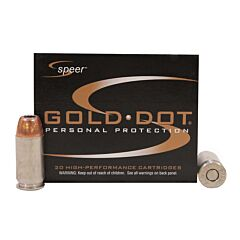 Speer Gold Dot 45 ACP 185 Grain Jacketed Hollow Point 20 Rounds