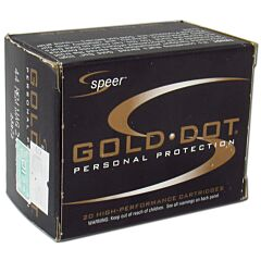 Speer Gold Dot 44 Remington Magnum 210 Grain Jacketed Hollow Point 20 Rounds