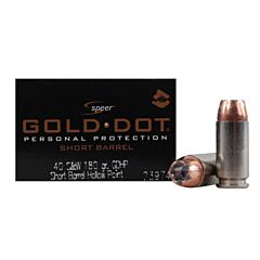 CCI Speer Gold Dot 40 S&W 180 Grain Jacketed Hollow Point 20 Rounds