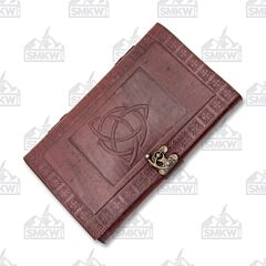Celtic Trinity Knot Leather Journal