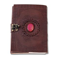 Pink Onyx Leather Journal