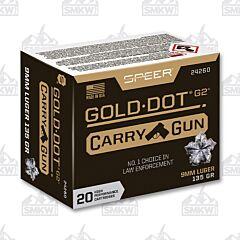 Speer Gold Dot Carry Gun 9MM Luger 135 Grain 20 Rounds