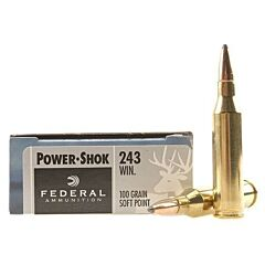 Federal Power-Shok 243 Winchester 100 Grain Soft Point 20 Rounds