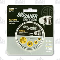 Sig Sauer Air Ammo .177 Caliber Match Led Pellets 500 Count