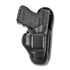 BIANCHI Model 100 Professional Right Hand Carry Black Leather Holster Size 7