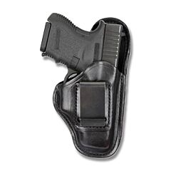 BIANCHI Model 100 Professional Right Hand Carry Black Leather Holster Size 9