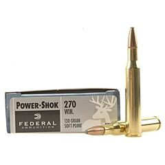 Federal Power-Shok 270 Winchester 130 Grain Soft Point 20 Rounds