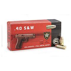 Geco 40 S&W 180 Grain Full Metal Jacket 50 Rounds