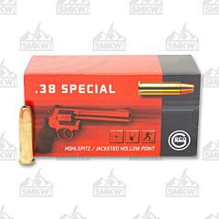 Geco 38 Special 158 Grain Jacketed Hollow Point 50 Rounds