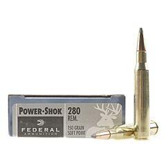 Federal Power-Shok 280 Remington 150 Grain Soft Point 20 Rounds