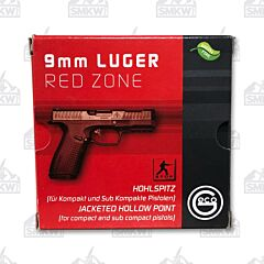 Geco Red Zone 9mm 124 Grain Jacketed Hollow Point 20 Rounds