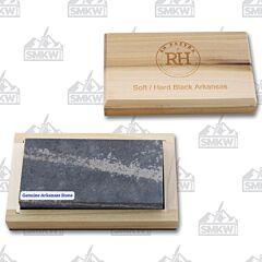 "RH Preyda 30067P 4X2X3/4""  Black Colored Hard Arkansas Stone"