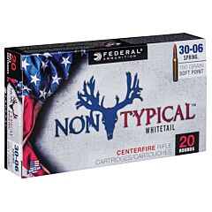Federal Non-Typical 30-06 Springfield 180 Grain Jacket  Soft Point 20 Rounds